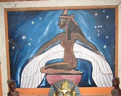 Winged Isis Painting