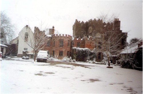 Southwest Wing in snow